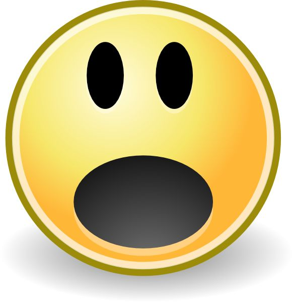 Emotions clipart scared face And 2 face clip emotions