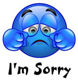 Emotions clipart sorry face Smiley Sorry sorry face Emoticons