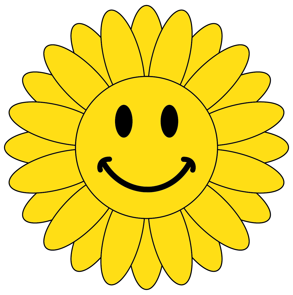 Smileys clipart sunflower Image face 3 clip smiley