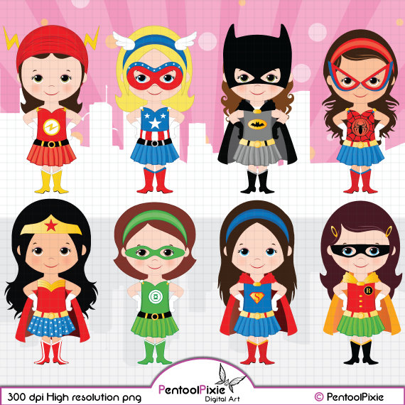 Mini clipart superheroes Batgirl hero clipart Boys Art