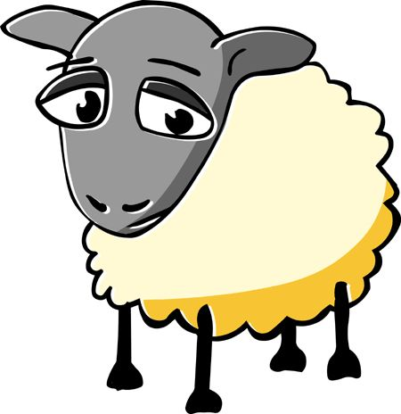 Sheep clipart scared #2