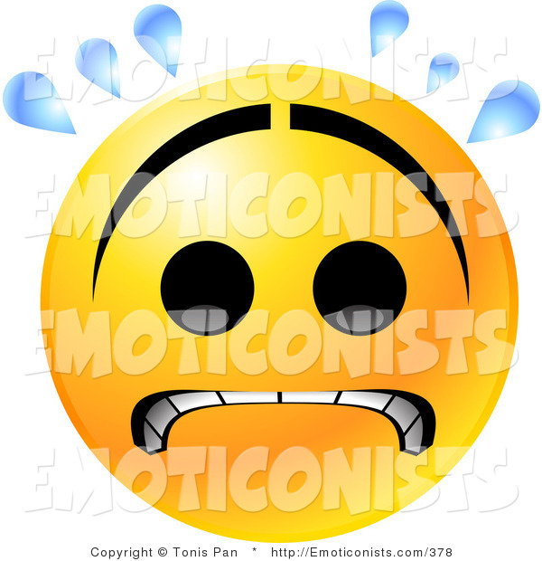 Emotions clipart worried face Frown Clip of a
