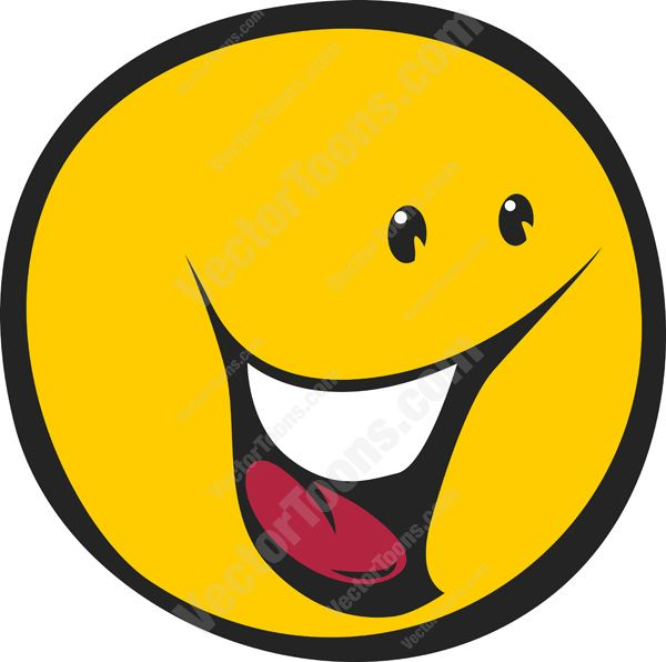 Smileys clipart wow face Looking Excited Yellow Right Wow