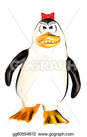 Penguin clipart angry Illustration female penguin Drawing Drawing