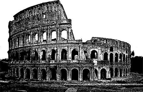 Empire clipart ancient ruin World Rome travel png art