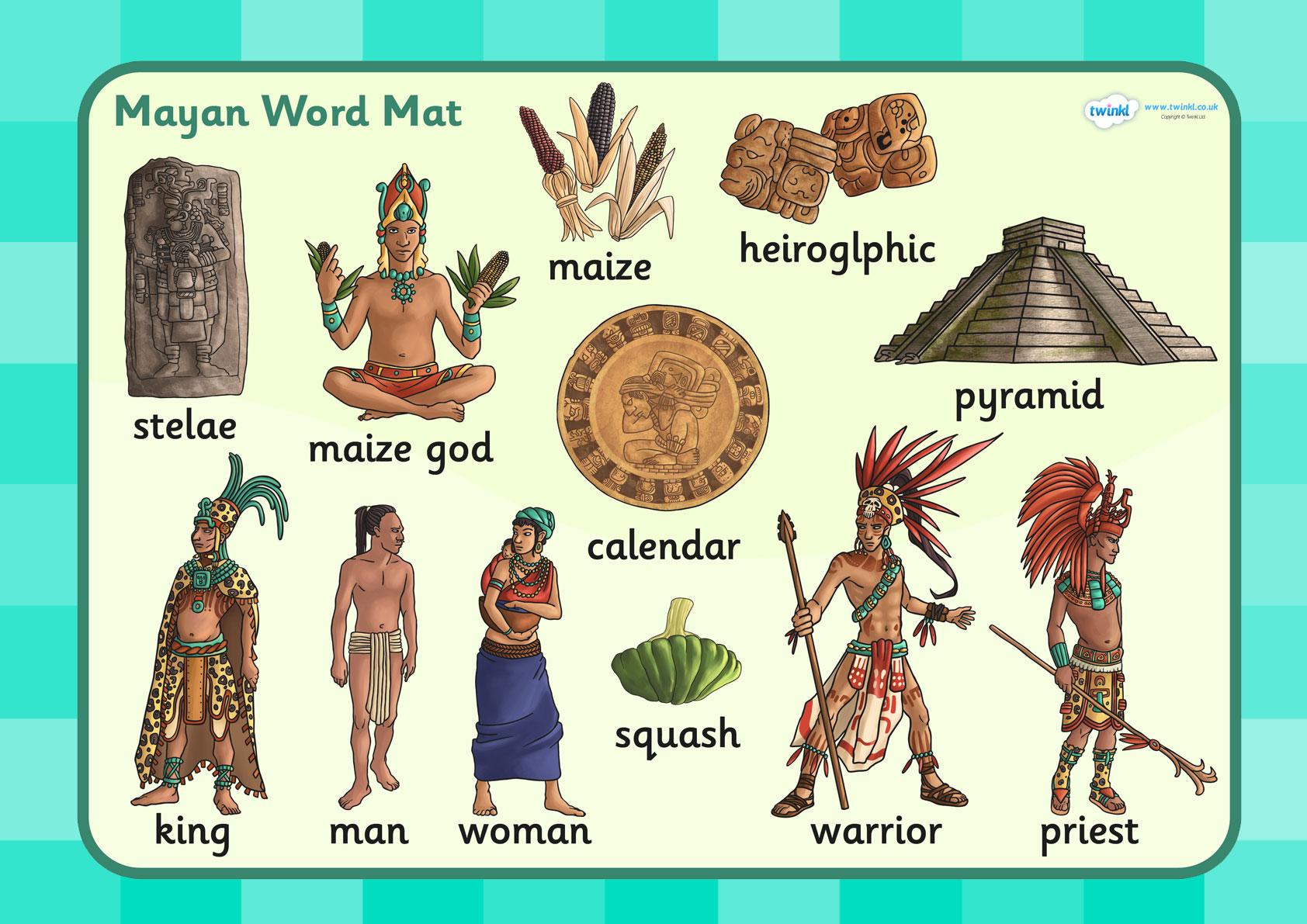 Mayan clipart ks2 KS2 Word Mayan Study: Civilization