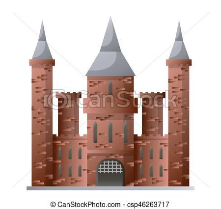 Brown clipart castle Castle csp46263717 of castle brown