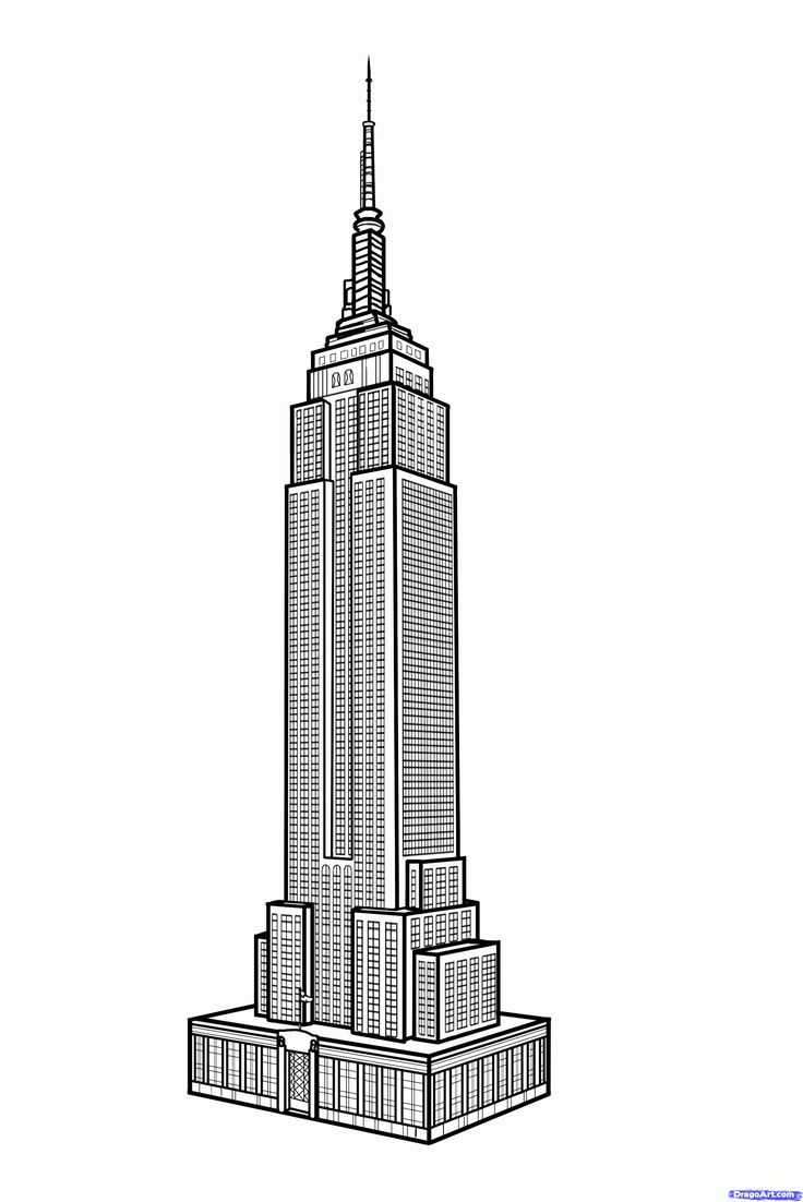 Skyscraper clipart empire state building State to how building building