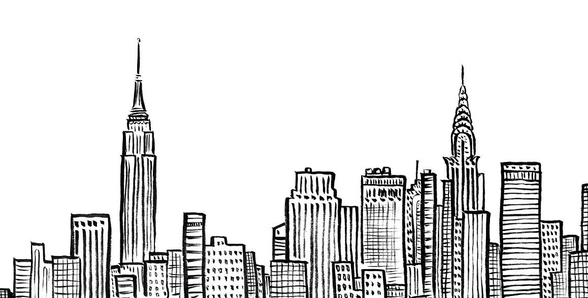 Drawn bulding  new york skyline Pinterest <3 notebook on Pinterest