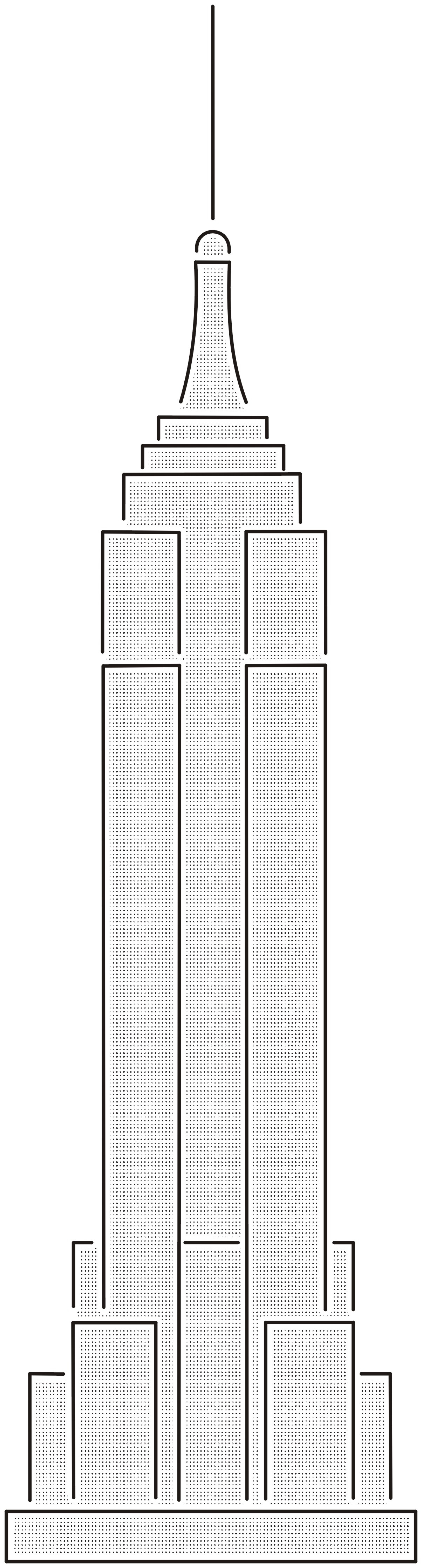 Drawn bulding  (1204×4476) Empire (1204×4476) building and