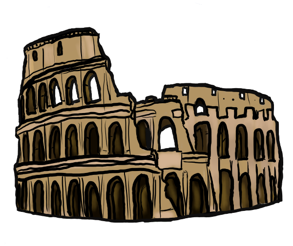 Colosseum clipart roman gladiator Roads Lead to Lead All