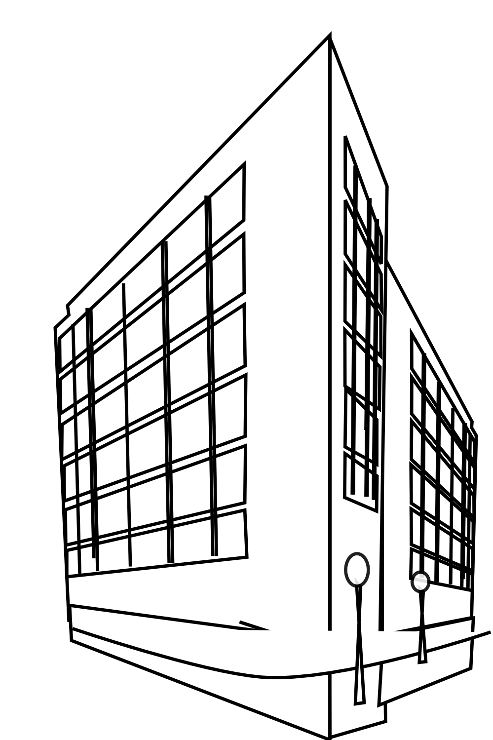 Office clipart commercial building Clip black deco art image