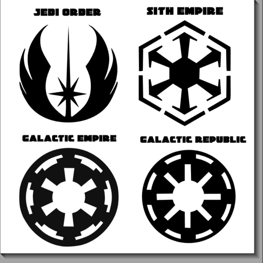 Empire clipart emblem star wars Vinyl symbols logos Star Decals
