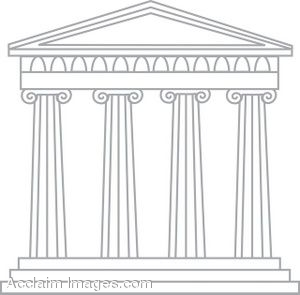 Structure clipart ancient greece building Art drawings Greek Art of