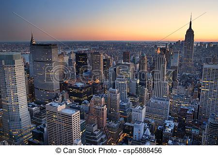 Empire clipart manhattan City aerial York building csp5888456