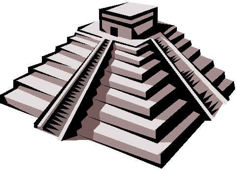 Drawn pyramid mayan temple Art Clip cliparts Clipart Free