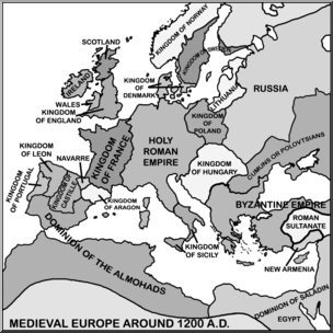 Empire clipart medieval europe I com Europe Art: Clip