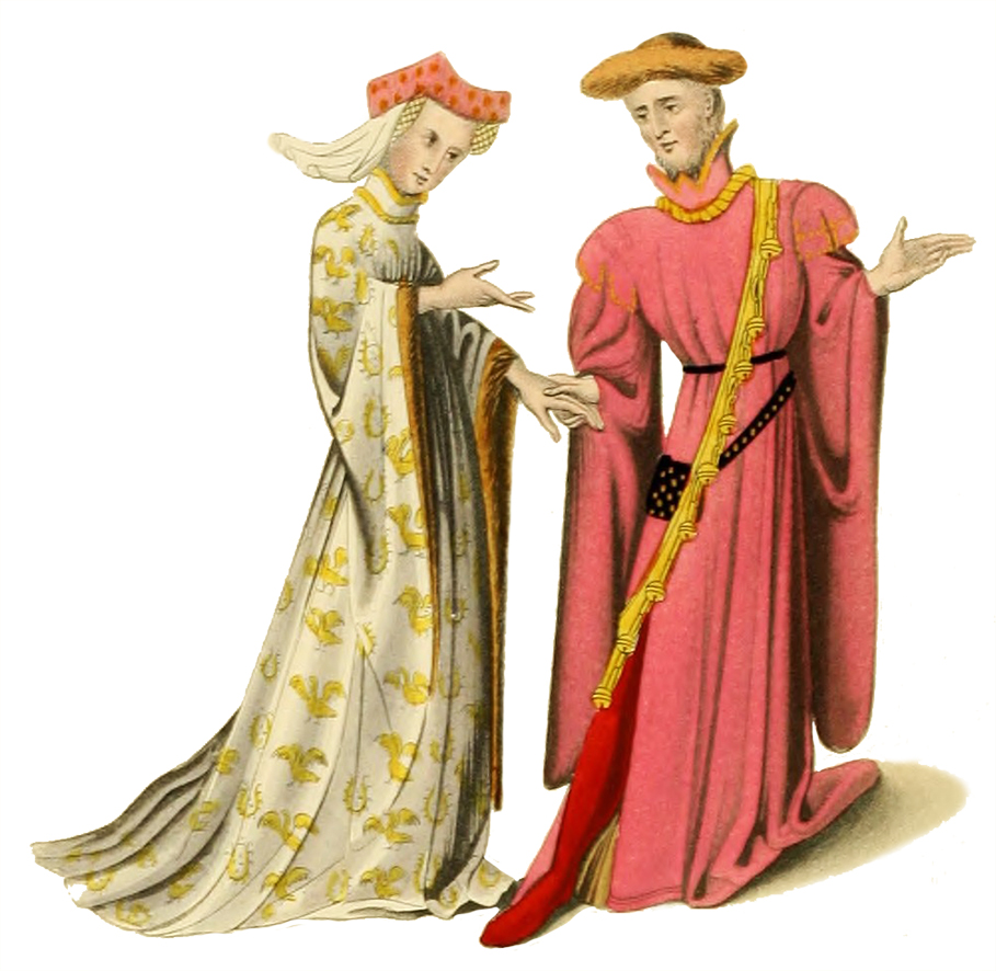 Empire clipart medieval peasant Medieval 14th clipart man woman