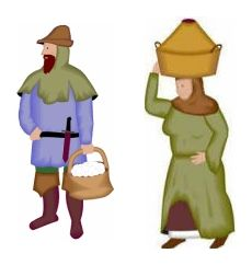 Maiden clipart medieval serf Clothing Characters middle practical was