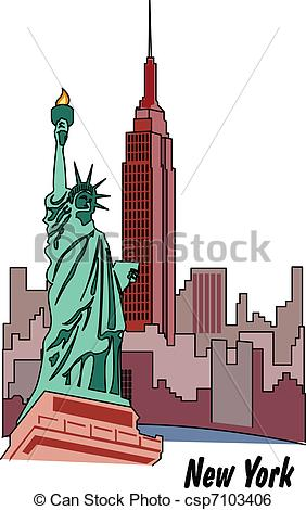 New York clipart New York Buildings Clipart Of York New  Statue