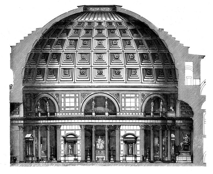 Empire clipart pantheon Architecture on Dwarsdoorsnede images Pantheon