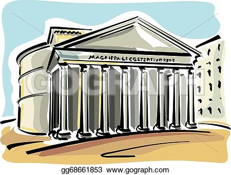 Empire clipart pantheon Rome Clipart Illustration Vector rome