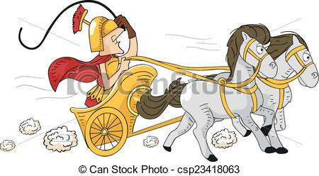 Rome clipart chariot racing  Illustration Featuring art a