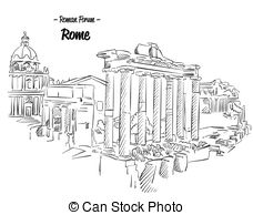 Ancient clipart roman forum Illustration Rome Vectors Famous EPS