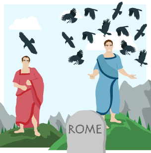 Empire clipart romulus and remus Founders Twins KS3 of hills