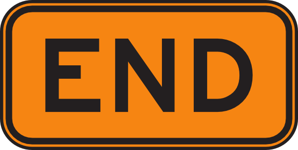 End clipart road Sign Art Free Clipart Clip