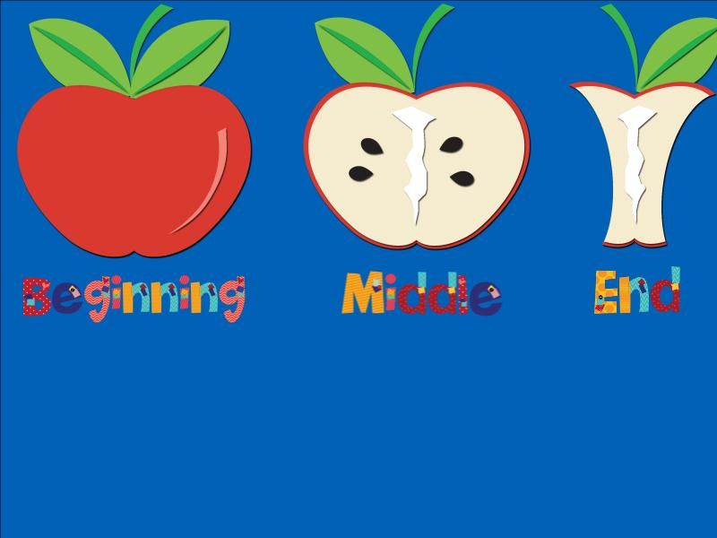 End clipart beginning middle Middle and organizer September End