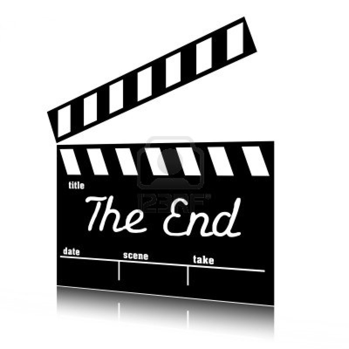 End clipart black and white White Free Art Clipart Clip