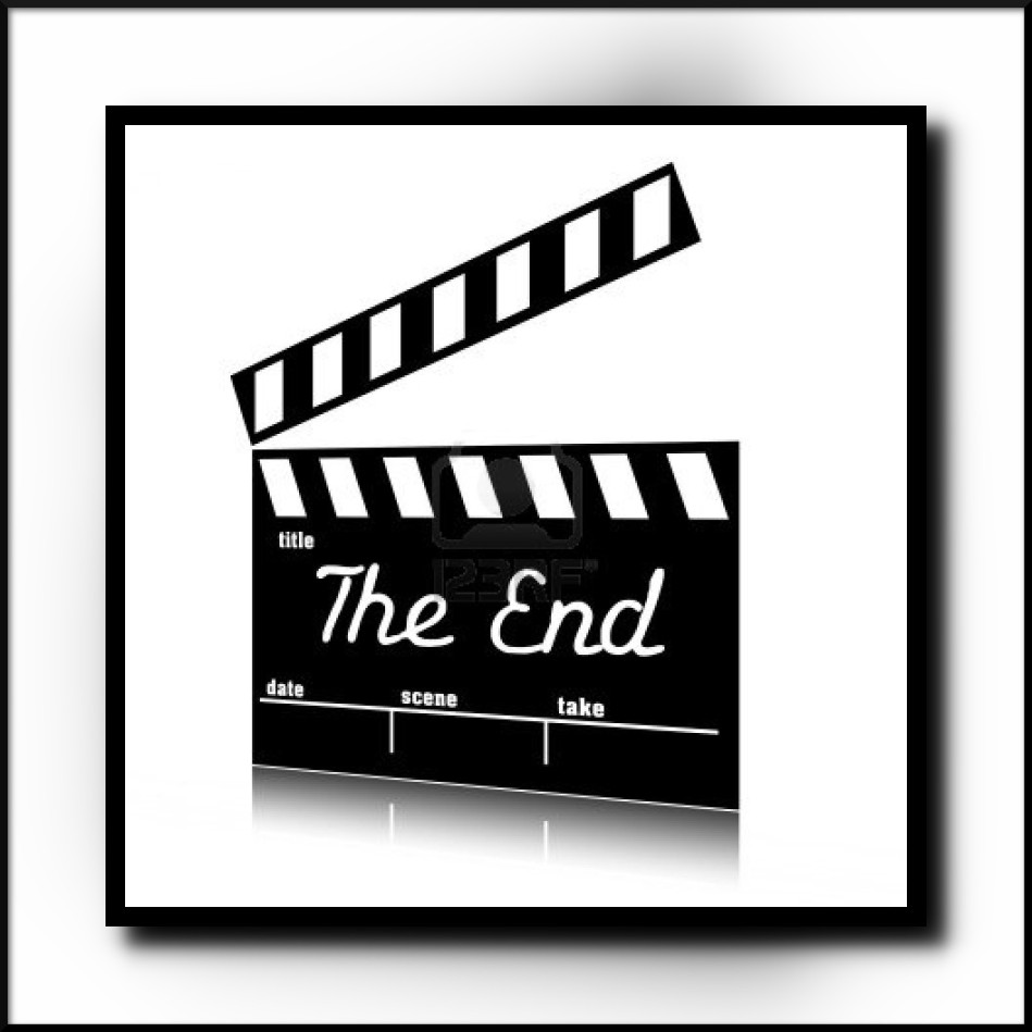 End clipart black and white » cinema theater clipart clipart