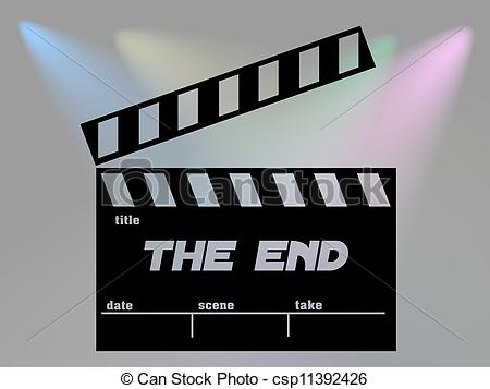 End clipart cinema Clip art end Clipart Lights