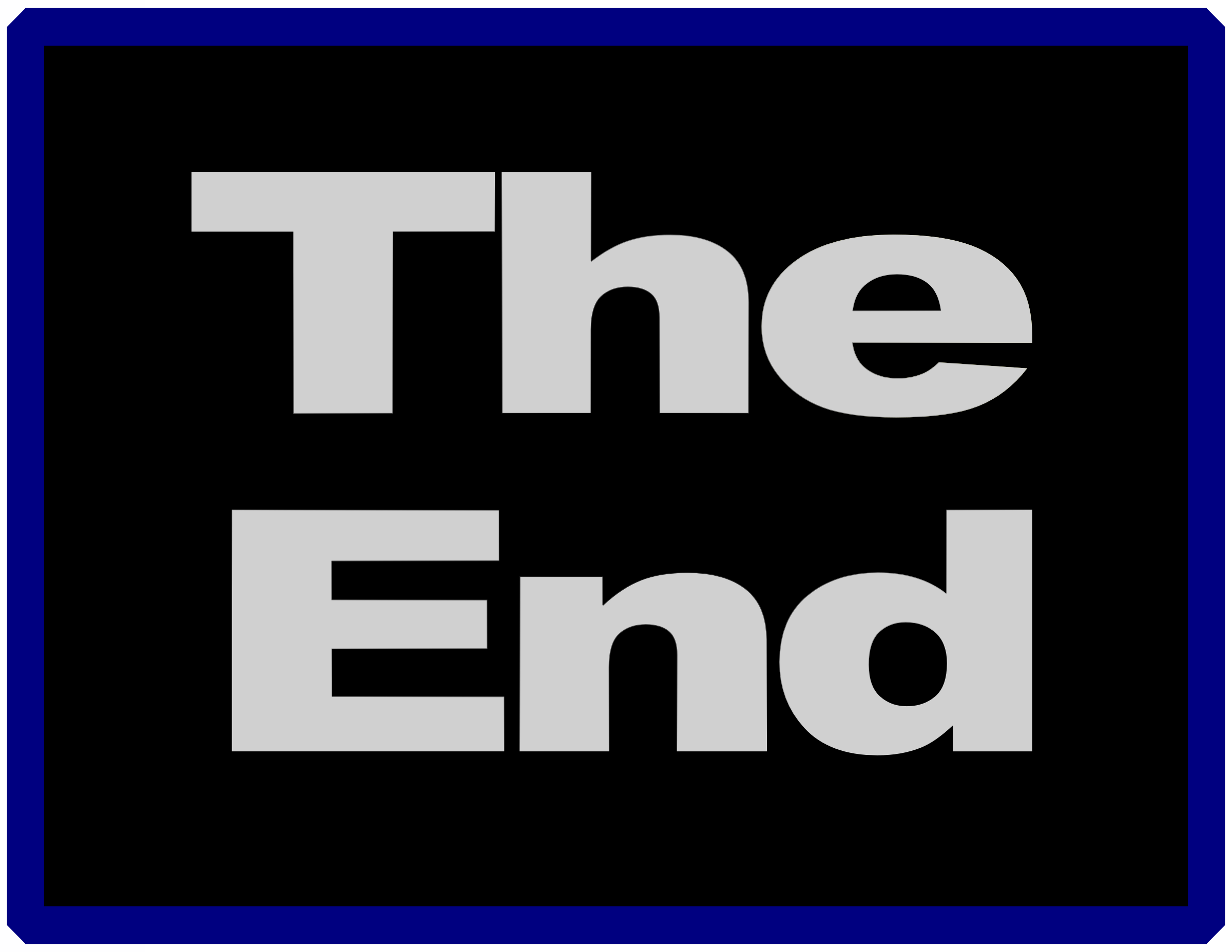 End clipart movie background The End Clipart End The