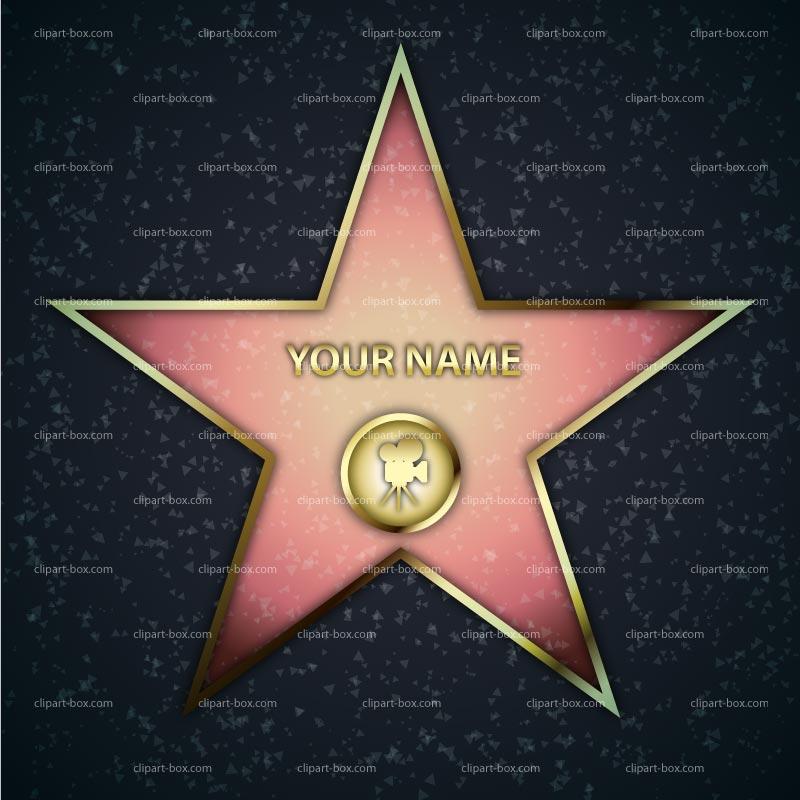 Actor clipart hollywood STAR vector Royalty clip clip