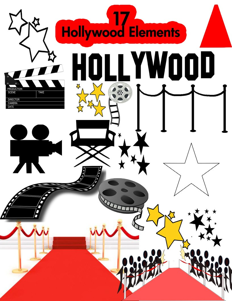 Background clipart hollywood #6