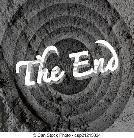 End clipart movie background End ending ending wall Cement