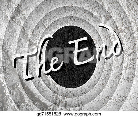 End clipart movie background End ending The wall cement