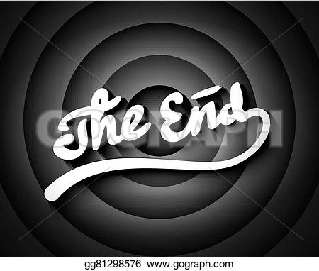 End clipart movie background Screen movie screen lettering white