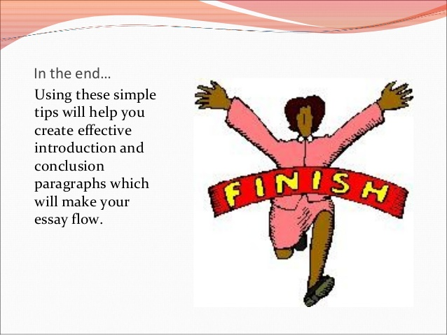 End clipart paragraph Introduction Closing 9 to: an