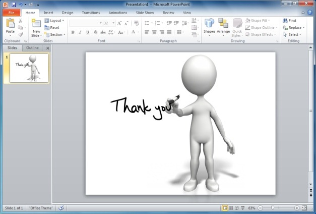 Drawn figurine powerpoint presentation You Figure Thank You Clipart