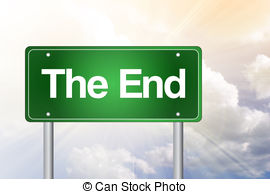 End clipart road End The sign Sign Stock