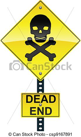 End clipart road Sign Road and Clip Dead