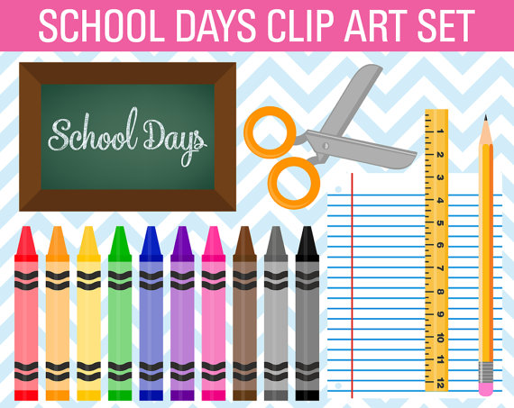 Crayon clipart school End Day art Free days