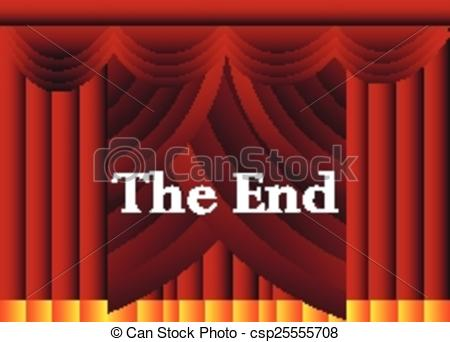 End clipart theater art Clipart background of csp25555708 end