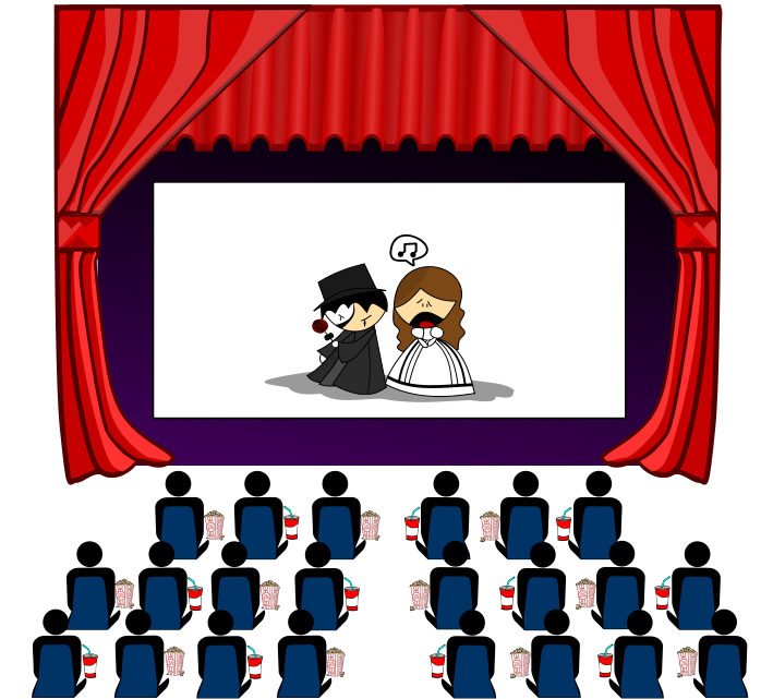 End clipart theater art 6 com The free clipart