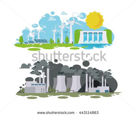 Energy clipart alternative source Sources vector panorama pollution environmentally