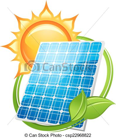 Panels clipart saving energy Illustration save csp22968822 Solar power