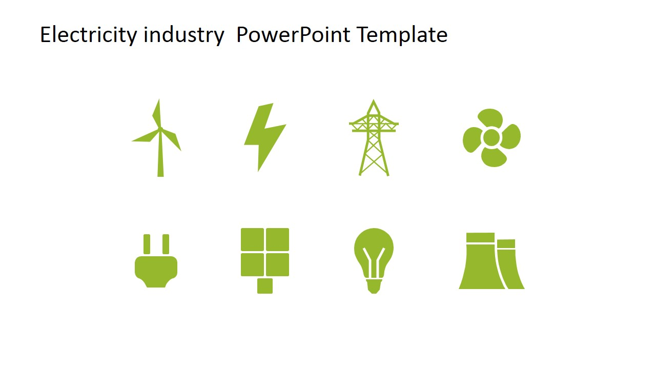 Industrial clipart electrical power plant Electric Energy Template SlideModel Clipart
